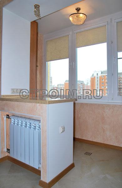 Балкон, присоединенный к кухне.