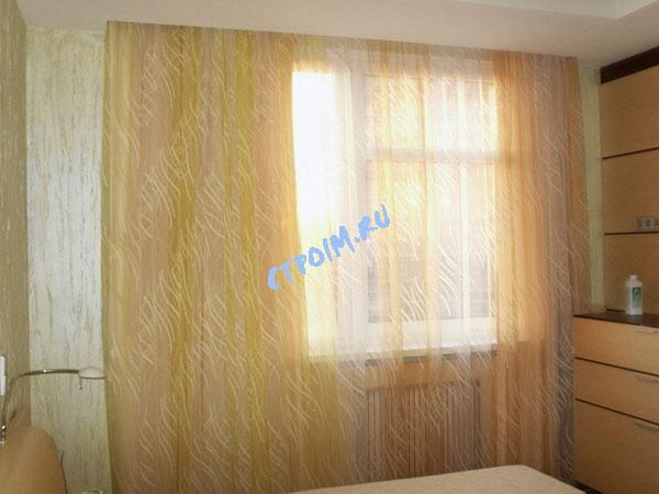 Дизайн тюль в спальню фото