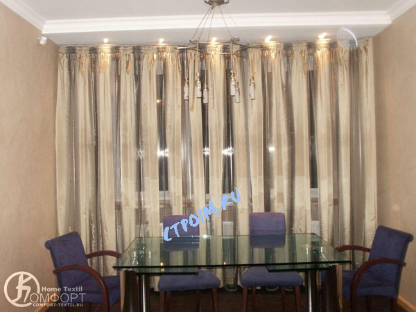 Галерея - Тюль органза с тафтой для кухонного окна.