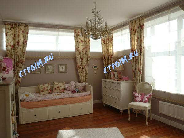 Дизайн спальни в стиле кантри.